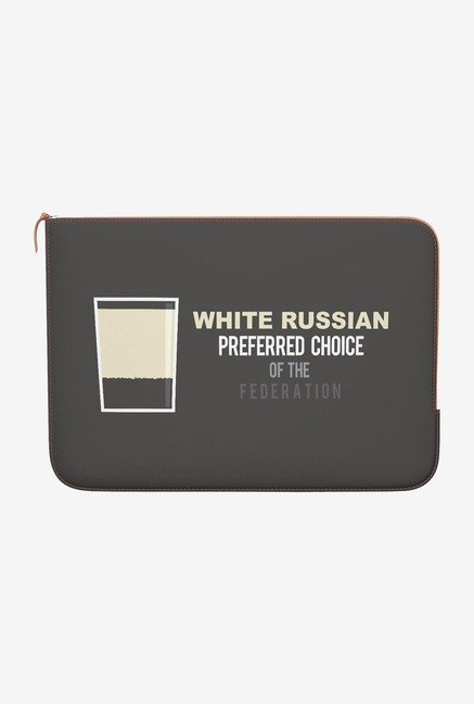 DailyObjects White Russian MacBook Pro 13 Zippered Sleeve