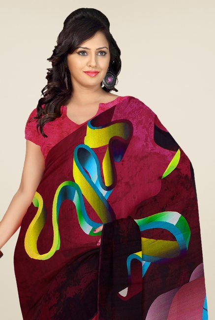 Triveni Multicolor Printed Casual Saree