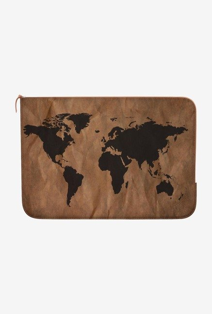 DailyObjects World Map MacBook 12 Zippered Sleeve