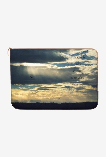DailyObjects Silver Lining MacBook Air 13 Zippered Sleeve