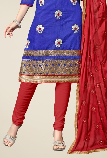 Triveni Blue Embroidered Salwar Kameez