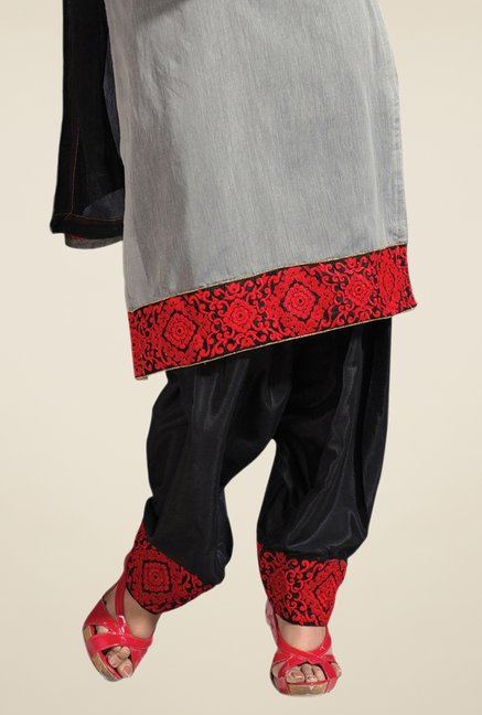 Triveni Grey Embroidered Salwar Kameez