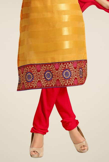 Triveni Yellow Embroidered Salwar Kameez