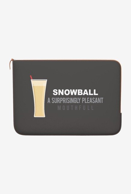 DailyObjects Snowball MacBook 12 Zippered Sleeve
