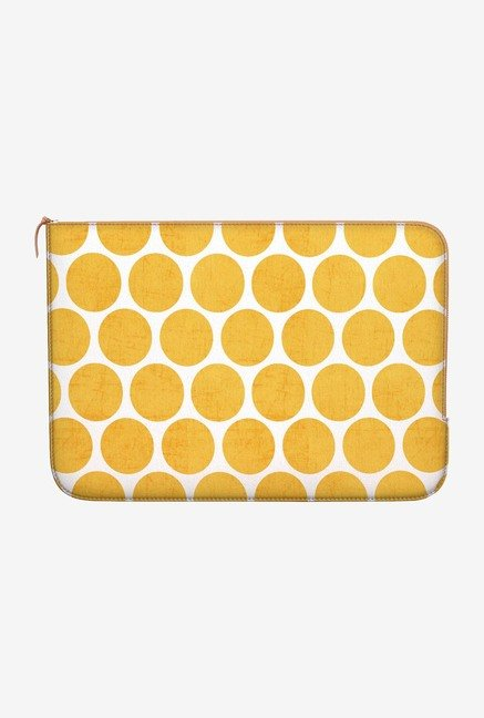 DailyObjects Yellow Dots MacBook 12 Zippered Sleeve