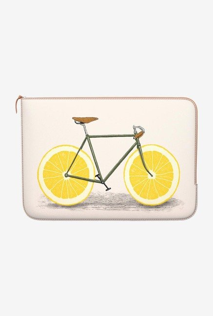 DailyObjects Yellow Wheels MacBook Air 11 Zippered Sleeve