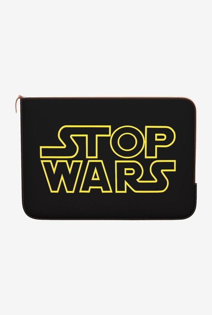 DailyObjects Stop Wars MacBook 12 Zippered Sleeve