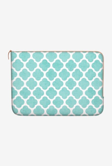 DailyObjects Teal Clover MacBook Air 11 Zippered Sleeve