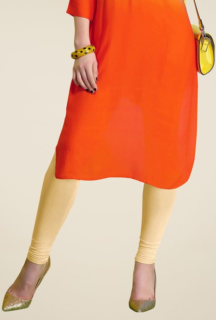 Triveni Orange Solid Kurta
