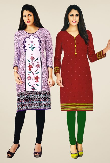 Salwar Studio Purple & Maroon Kurtis (Pack Of 2)