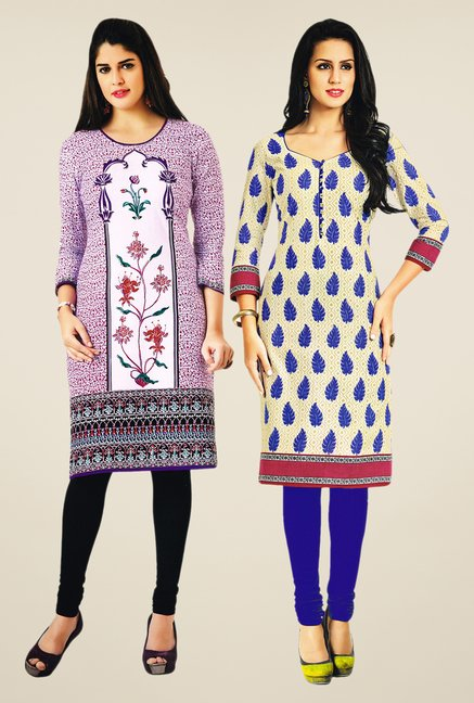 Salwar Studio Purple & Beige Kurtis (Pack Of 2)