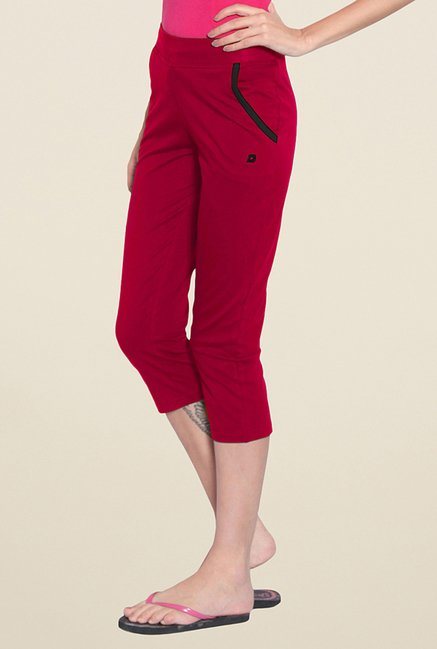 Sweet Dreams Red Solid Capris