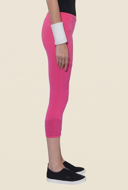Sweet Dreams Pink Solid Capris