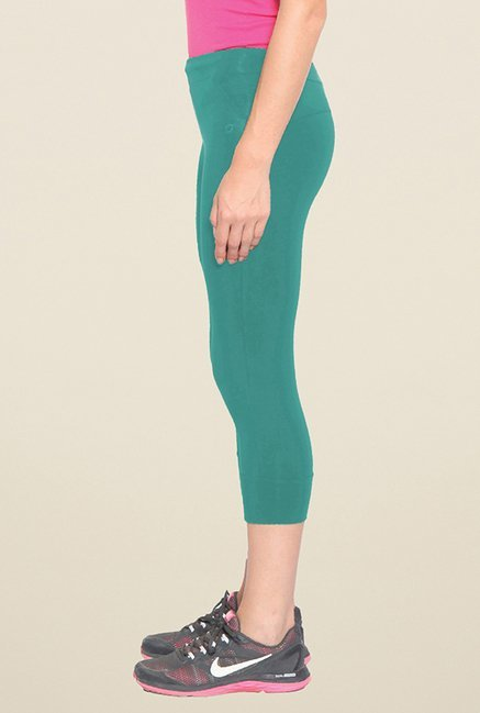 Sweet Dreams Green Solid Capris