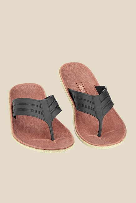 Tresmode Sisa Black Thong Sandals
