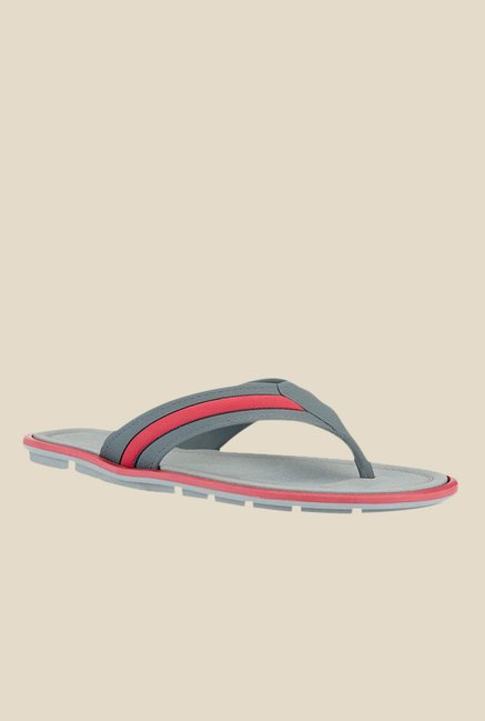 Tresmode Ibiza Red & Grey Thong Sandals
