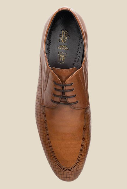 Tresmode Genoa Tan Derby Shoes
