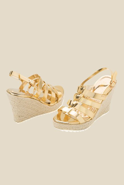 Tresmode Cannes Golden Back Strap Wedges