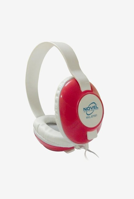 Novel NVL-ST001 Over The Ear Headphones with Mic (Red)