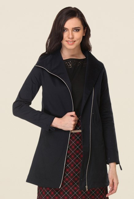 Kaaryah Navy Solid Jacket
