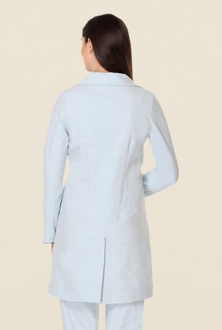 Kaaryah Light Blue Solid Jacket