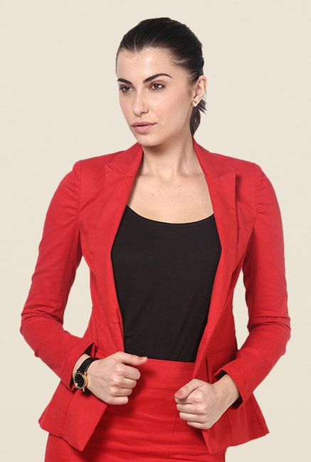 Kaaryah Red Solid Blazer