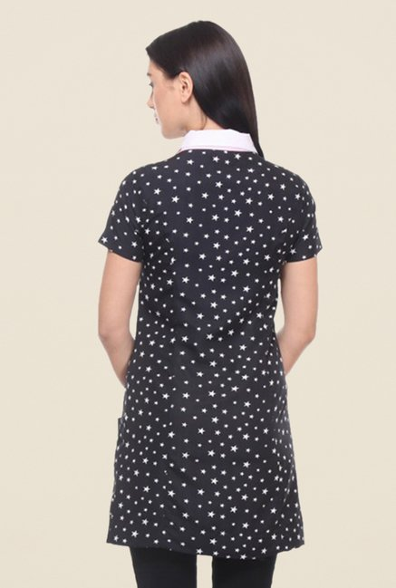 Kaaryah Black Star Printed Dress