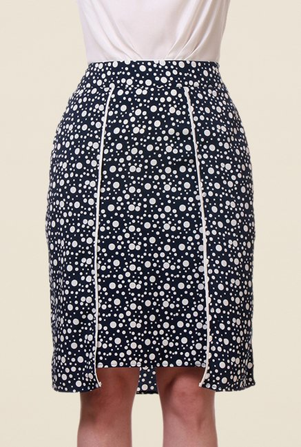 Kaaryah Navy Polka Dot Skirt