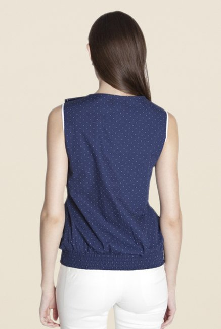 Kaaryah Navy Printed Top