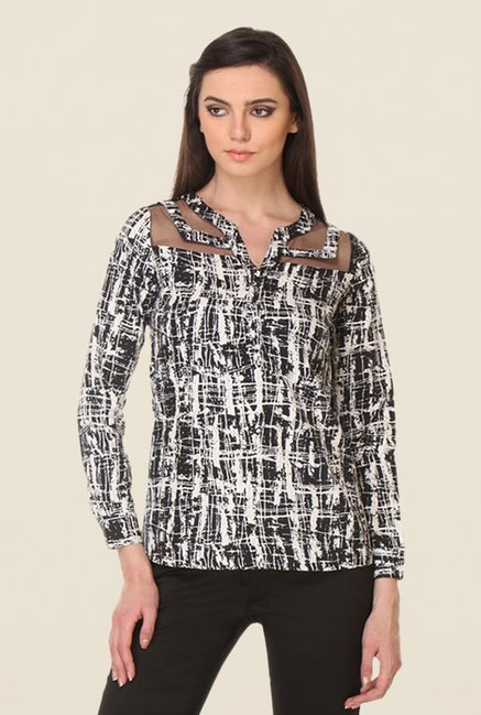 Kaaryah Black Printed Top