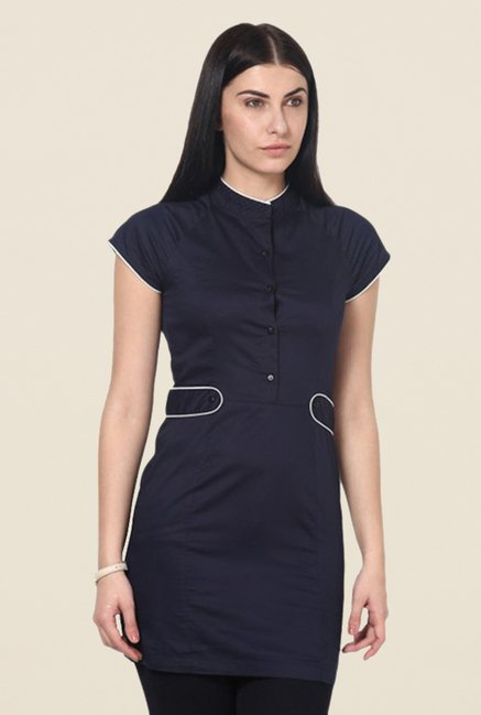 Kaaryah Navy Solid Top