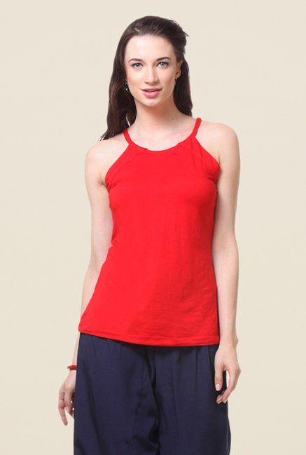 Kaaryah Red Solid Top