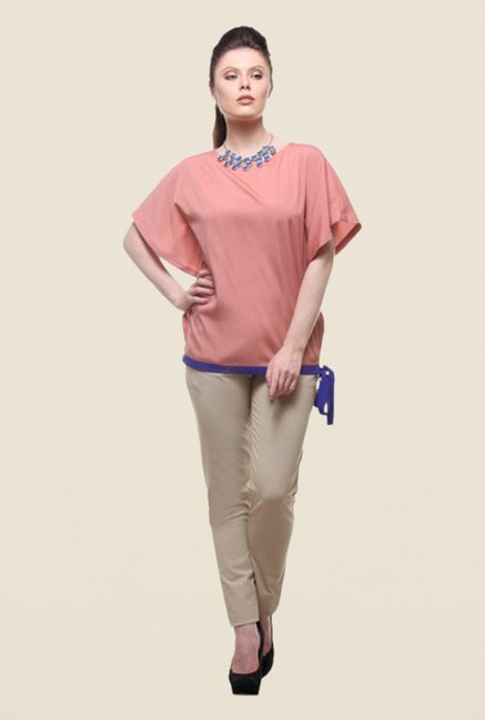 Kaaryah Peach Solid Top