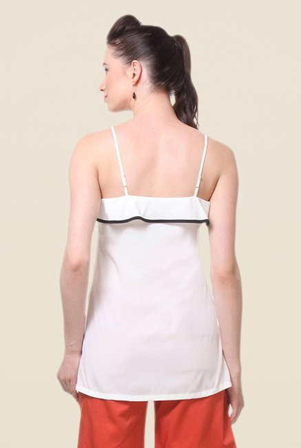 Kaaryah White Solid Cami Top