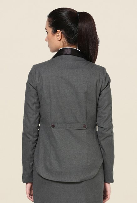 Kaaryah Grey Solid Jacket