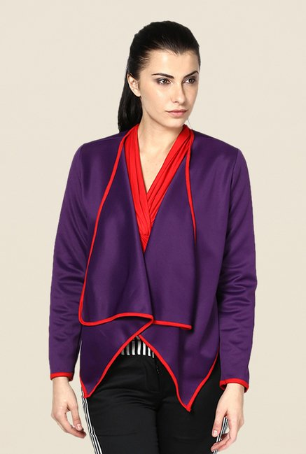 Kaaryah Purple Solid Jacket