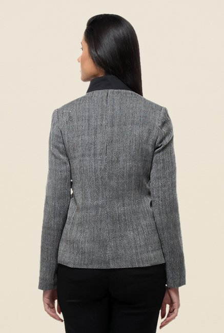 Kaaryah Grey Textured Jacket