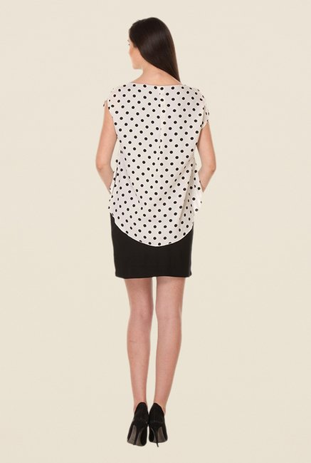 Kaaryah Black & White Polka Dot Dress