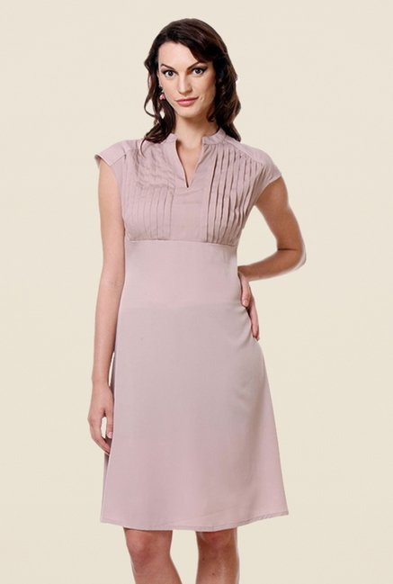 Kaaryah Beige Solid Dress