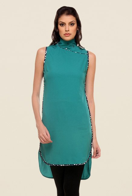 Kaaryah Teal Solid Dress