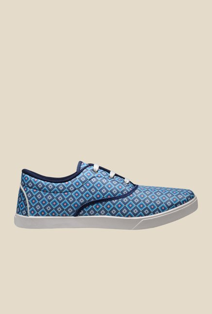 Juan David Blue & White Plimsolls