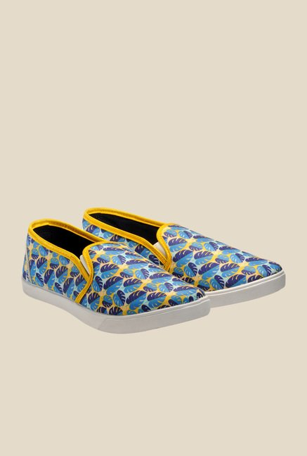 Juan David Yellow & Blue Plimsolls