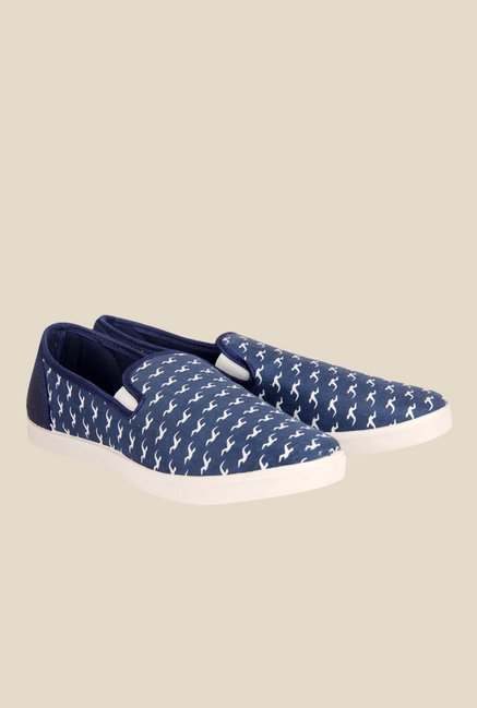 Juan David Navy & White Plimsolls