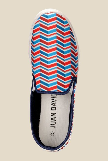 Juan David Red & Blue Plimsolls