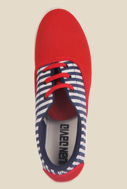 Juan David Red & Navy Plimsolls