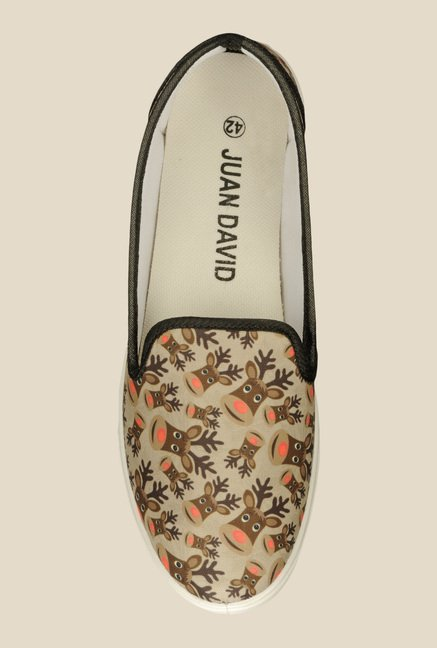 Juan David Beige & Brown Plimsolls