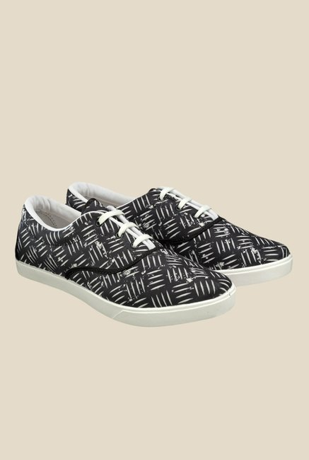 Juan David Black & White Plimsolls