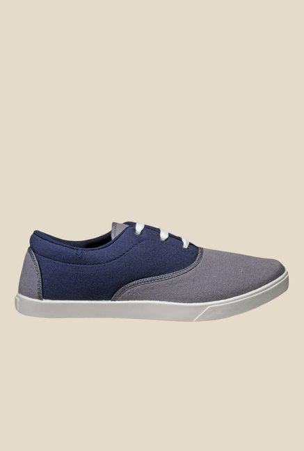 Juan David Grey & Navy Plimsolls