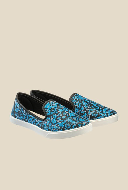 Juan David Blue & Black Plimsolls