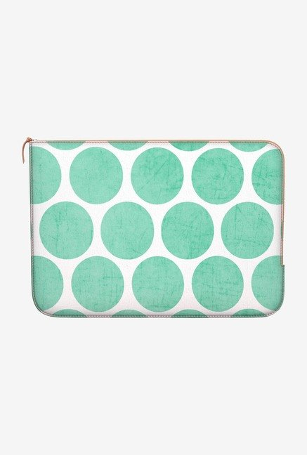 "DailyObjects Mint Polka Dots Macbook Air 11"" Zippered Sleeve"
